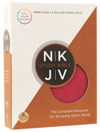 NKJV Study Bible Rich Raspberry/Rich Mahogany (Full-color Edition) Premium Imitation Leather