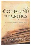Confound the Critics Paperback