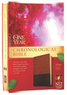 NLT One Year Chronological Bible Brown Tan (Black Letter Edition)