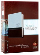 NLT Women's Sanctuary Devotional Bible Cool Blue/ Chocolate Rose (Black Letter Edition) Imitation Leather