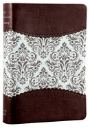 Nlt's Women's Sanctuary Devotional Bible Espresso/Vintage Floral Fabric (Black Letter Edition) Imitation Leather