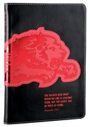NLT Kids Slimline Bible Proverbs 28: 1 Black/Red Lion Courage (Black Letter Edition) (Red Letter Edition) Imitation Leather