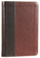 NLT Compact Bible Brown/Tan (Black Letter Edition) Imitation Leather