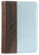 KJV Large Print Compact Bible Brown/Blue Duotone Simulated Leather Imitation Leather