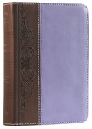KJV Large Print Compact Bible Brown/Purple Duotone Simulated Leather Imitation Leather