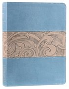 KJV Holman Study Bible Blue Taupe Premium Imitation Leather