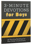 3-Minute Devotions For Boys Paperback
