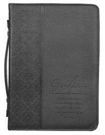 Bible Cover Classic Large: Guidance Proverbs 3:6 Black Luxleather