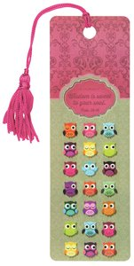 Bookmark With Tassel: Owl: Wisdom For the Soul