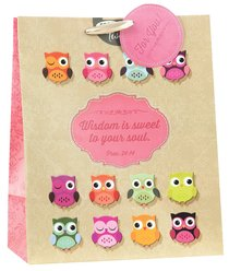 Gift Bag Large Owl: Wisdom For the Soul (Incl Tissue Paper & Gift Bag)