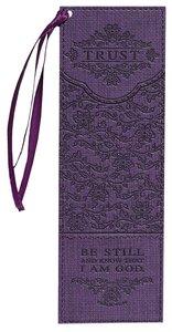 Bookmark Luxleather Tassel: Trust, Dark Purple