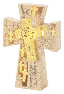 Tabletop Cross: Pray 1 John 5:14