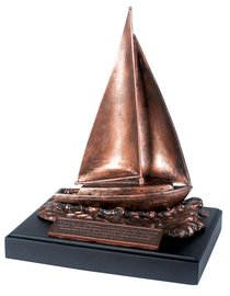 Moments of Faith Sculpture: Sailboat (Jeremiah 29:11)