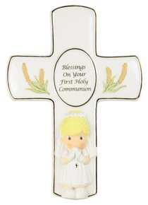 Precious Moments Cross: Girl, Blessings on Your First Holy Communion
