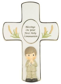 Precious Moments Cross: Boy, Blessings on Your First Holy Communion