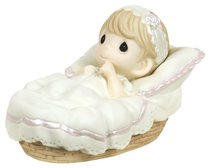 Precious Moments Figurine: Girl, Baptized in His Name
