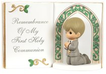 Precious Moments Bible Figurine: Boy, Remembrance of My First Holy Communion