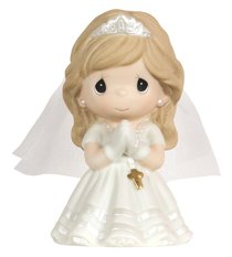 Precious Moments Figurine: Girl, Kneeling My First Holy Communion