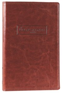 NIV Pillars of the Faith Bible Caramel Duo-Tone (Red Letter Edition)