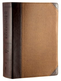NIV Zondervan Study Bible Full Colour Chocolate/Caramel (Black Letter Edition)