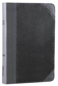 NIV Thinline Bible Compact Black Letter Charcoal/Black