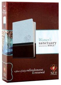 NLT Womens Sanctuary Devotional Bible Cool Blue Chocolate Rose (Black Letter Edition)