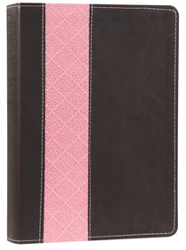 NIV Life Application Study Bible Dark Brown/Pink (Red Letter Edition)