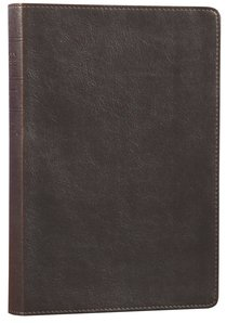 NLT Slimline Reference Bible Rustic Brown (Red Letter Edition)