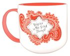 Jumbo Ceramic Mug: Bandana Rejoice (Red/white) Homeware