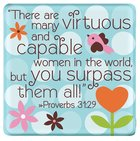 Ceramic Dots Magnet: Mum - There Are Many Virtuous... (Prov 31:29) Novelty