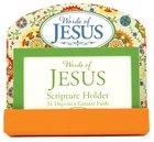 Scripture Card Holder:31 Scripture Cards, Words Of Jesus