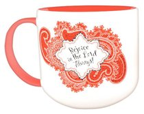 Jumbo Ceramic Mug: Bandana Rejoice (Red/white)