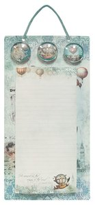 Metal Sign List Pad & 3 Magnets (Vintage Balloon Collection Series)