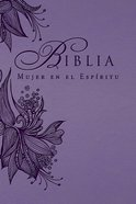 Biblia Mujer En El Espritu (Spiritled Woman's Bible, Lavender Flex) Imitation Leather