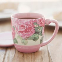 Teacup With Lid: Floral Purpose, Lamentations 3:23