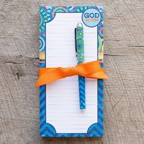 Daymaker Notepads With Pen: God Cares (2 Pack)