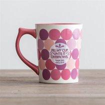 Classic Ceramic Mug: Fill My Cup, Pink Spots, (Psalm 23:5)