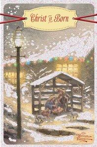 Christmas Boxed Cards: Thomas Kinkade Christ is Born (Luke 2:10,11 Nlt)