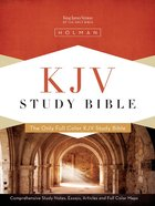 KJV Study Bible Simulated Leather Mantova Brown Imitation Leather