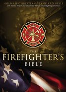 HCSB Firefighter's Bible, Red Leathertouch Imitation Leather