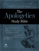 HCSB Apologetics Study Bible Brown/Tan Simulated Leather (Indexed) Imitation Leather