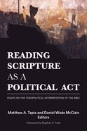 Reading Scripture as a Political Act Paperback