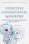 Effective Generational Ministry eBook