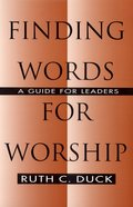 Finding Words For Worship eBook