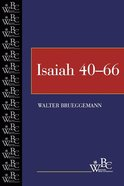Isaiah 40-66 (Westminster Bible Companion Series) eBook
