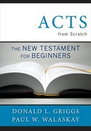 Acts From Scratch eBook