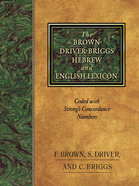 Brown Driver Briggs Hebrew English Lexicon Hardback