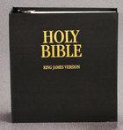 KJV Loose-Leaf Bible (With Binder In Plain Box) Ring Bound