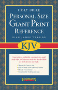 KJV Personal Size Giant Print Reference Blue Bonded Leather