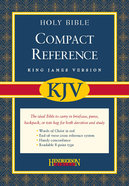 KJV Hendrickson Compact Reference Large Print Black (Red Letter Edition) Bonded Leather
